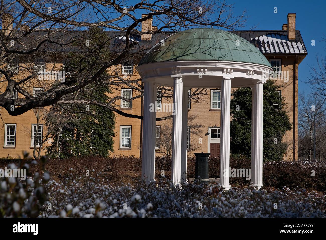 The symbol of the University of North Carolina - the Old Well - Stock Image