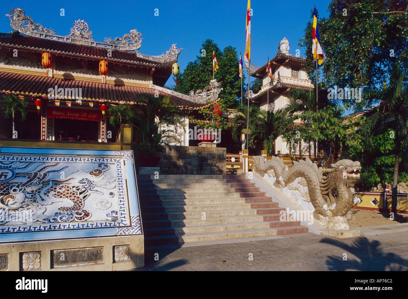 Nha Trang Long Son Pagoda Stock Photo