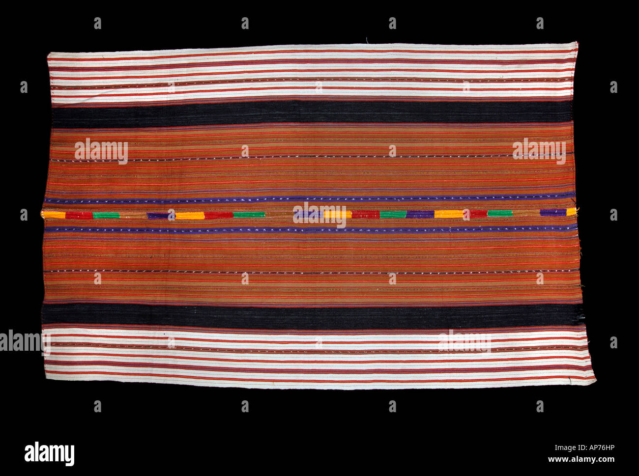 Woven cloth called a zut from Solola Guatemala - Stock Image
