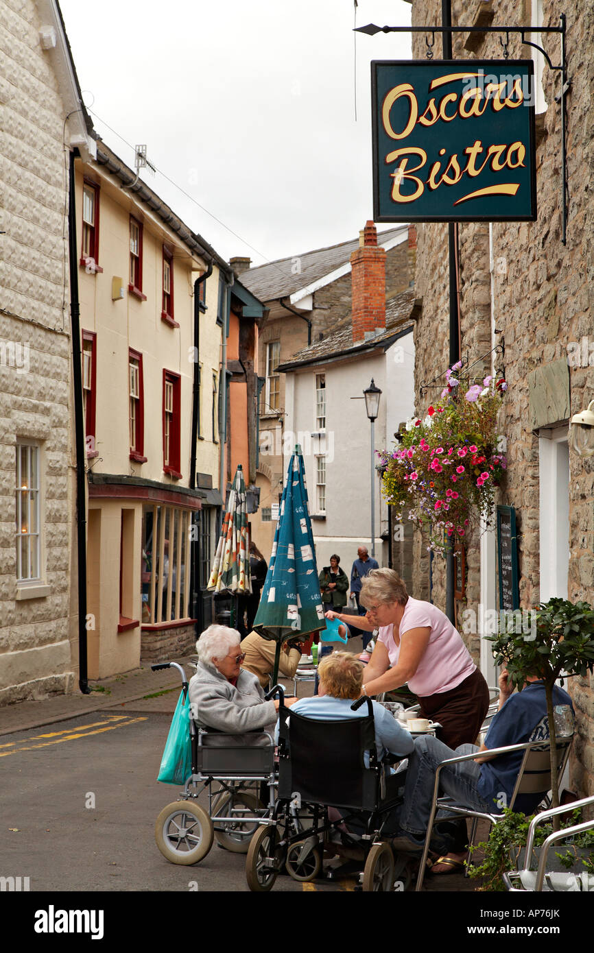 Hay on Wye Town Centre - Stock Image