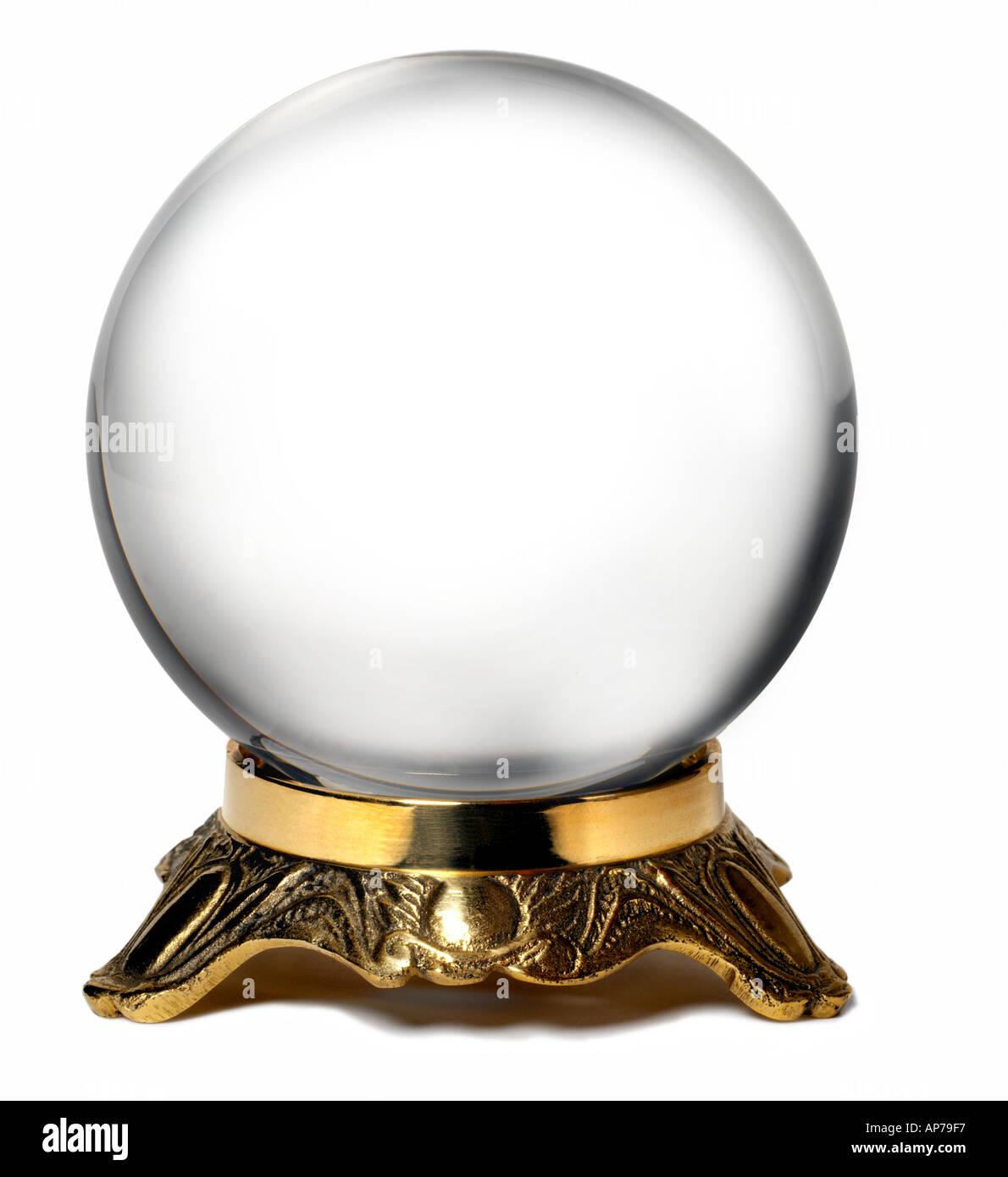 Crystal Ball Globe Earth - Stock Image