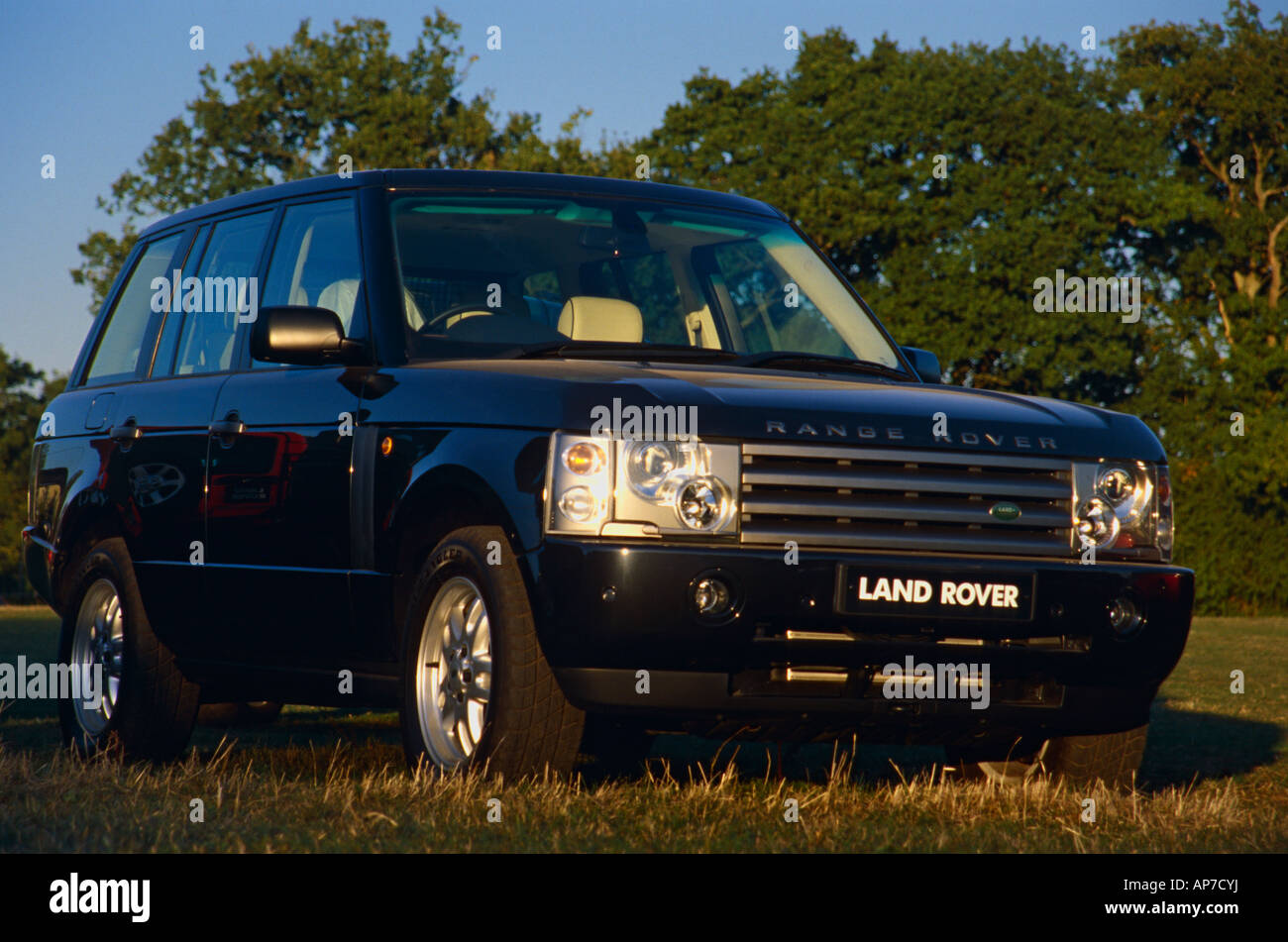 New Range Rover 3rd generation demonstrator on display at the Dunsfold Collection of Landrovers Open Day 2003, Surrey - Stock Image