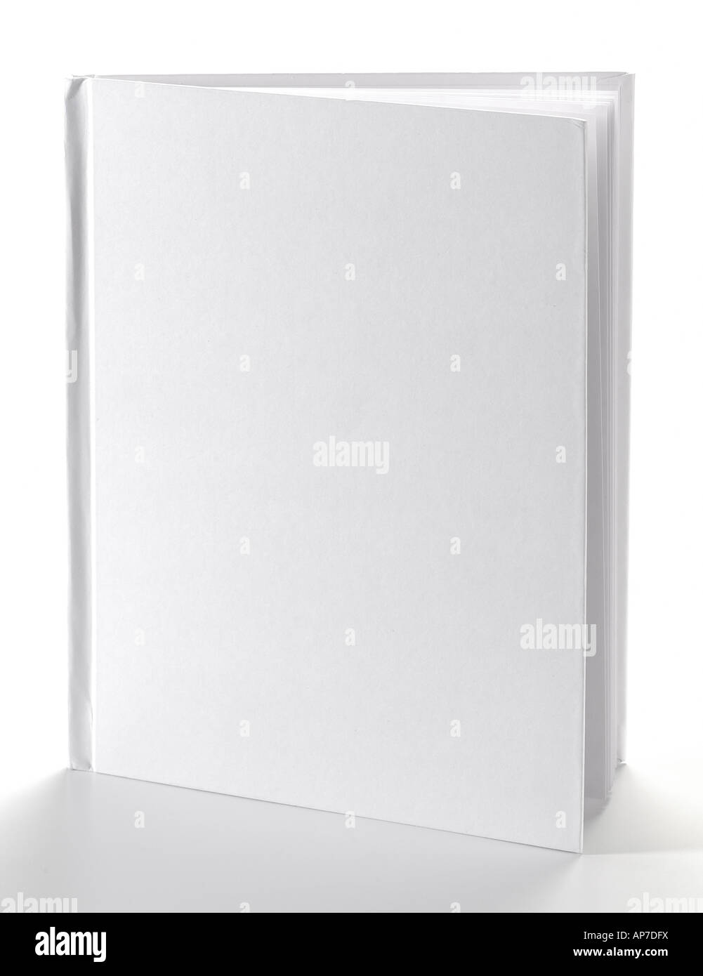 Plain Blank White Book Studio Still Life - Stock Image