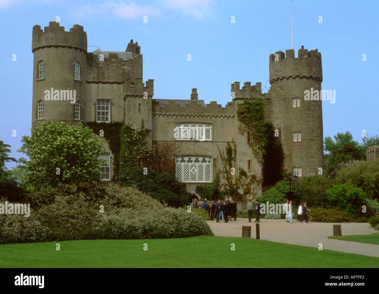 Ireland Dublin Malahide castle - Stock Image