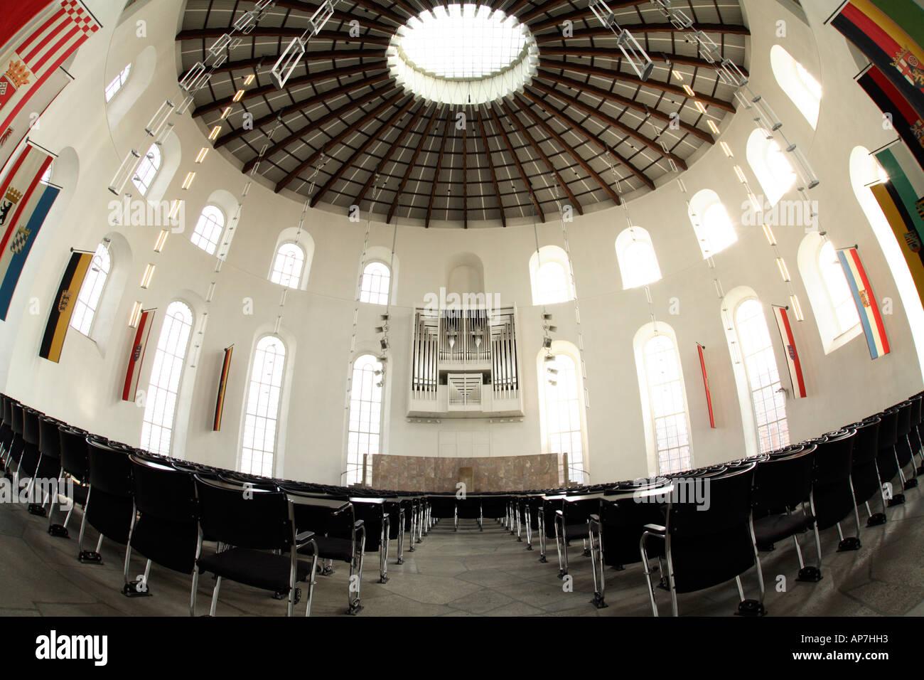 View inside Paulskirche Frankfurt Stock Photo