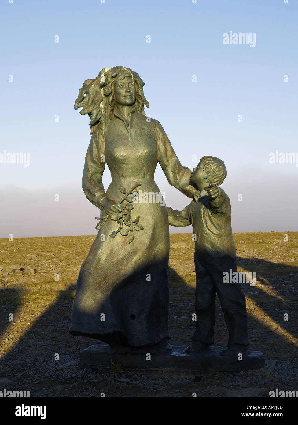 Nordkapp, Cape North, sculpture - Stock Image