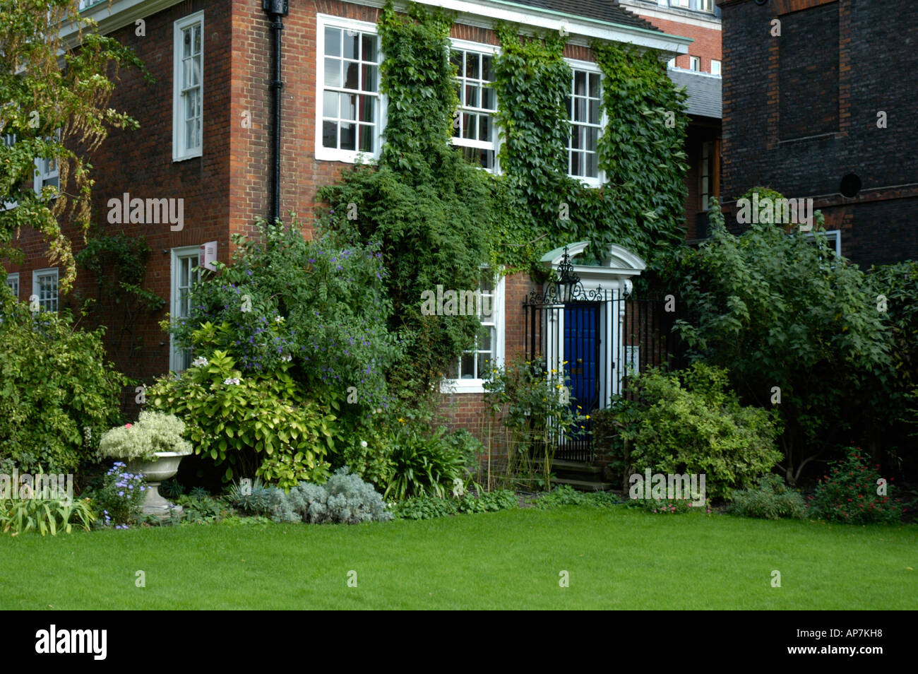 Chambers and Garden in Lincoln's Inn Holborn London England - Stock Image
