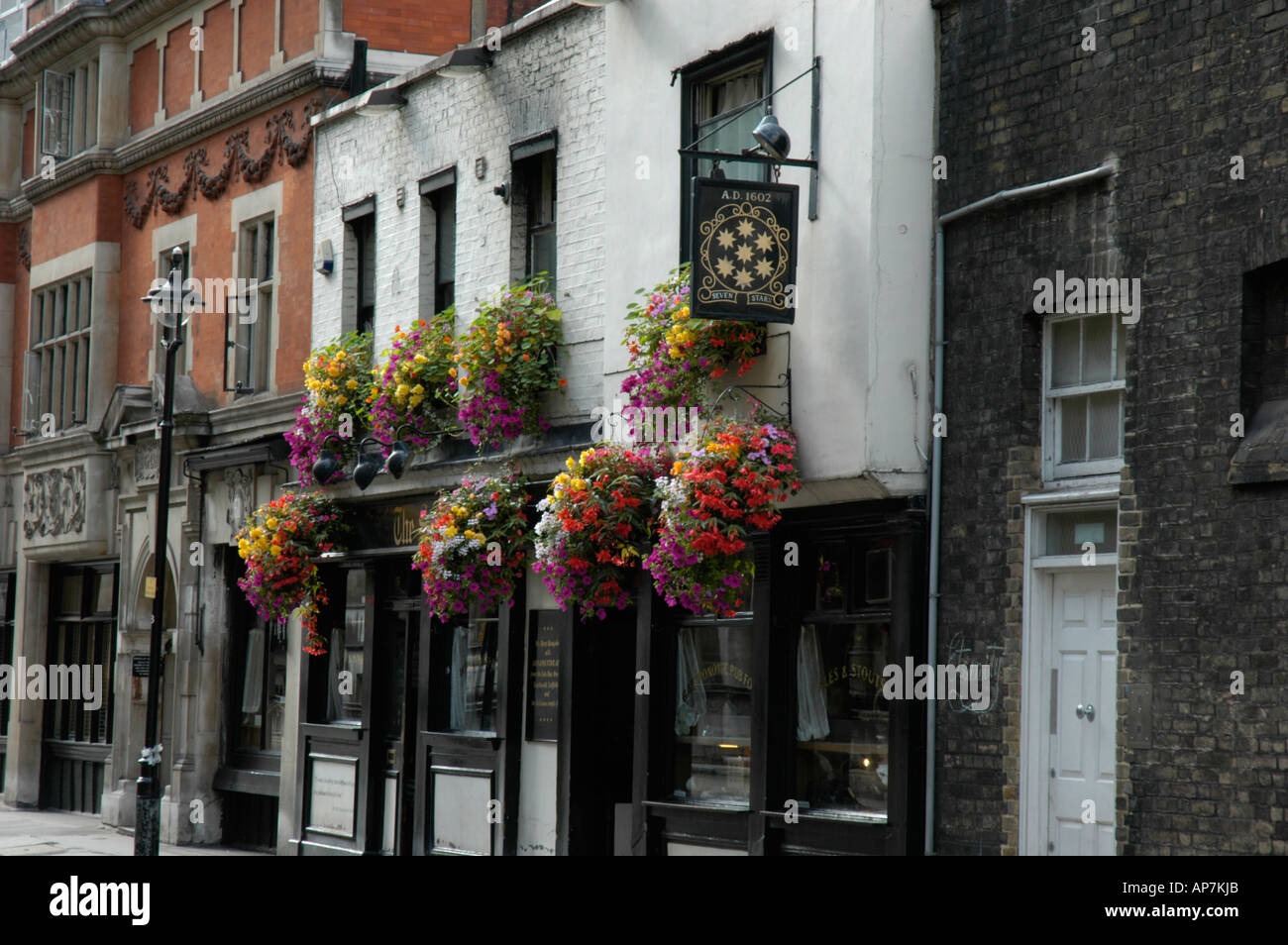The Seven Stars public house in Carey Street next to Lincoln's Inn Holborn London England - Stock Image