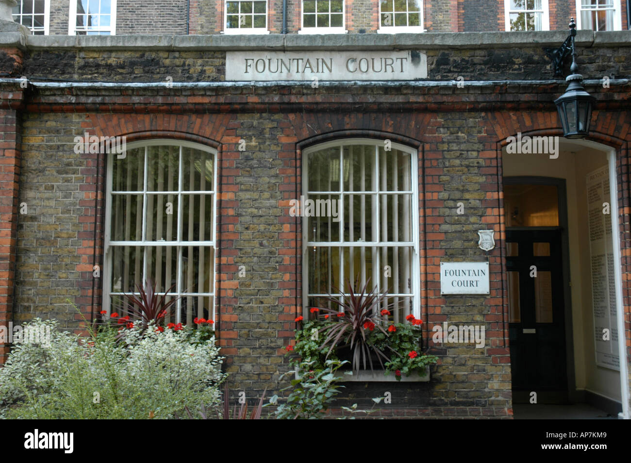 Legal chambers at Fountain Court Inns of the Court London England - Stock Image