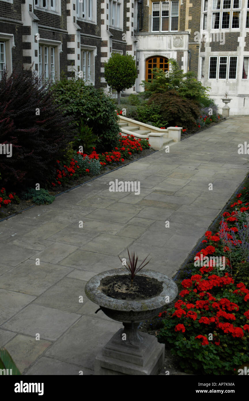 Garden in Middle Temple Inns of the Court London England - Stock Image
