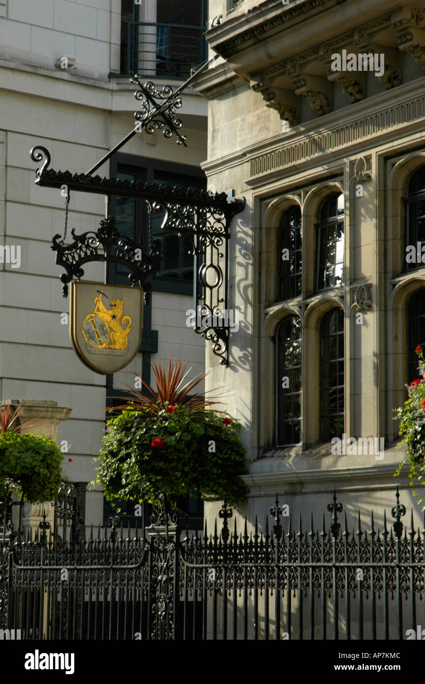 Middle Temple Inns of the Court from Victoria Embankment London England - Stock Image