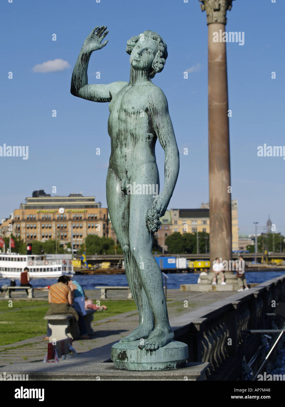 Stockholm, statue Saangen, The Song, by Carl Eldh - Stock Image