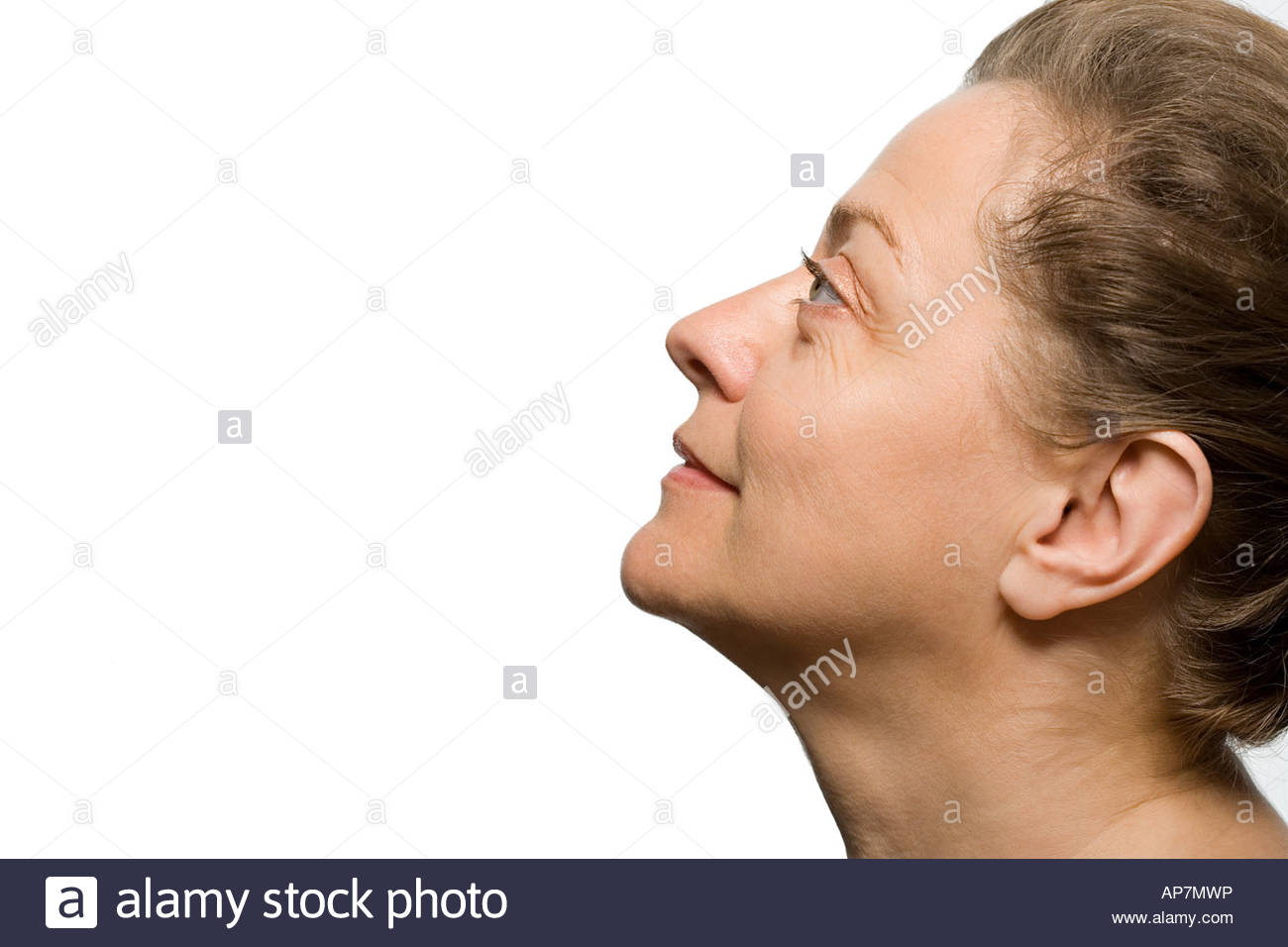 Profile of a mature woman - Stock Image