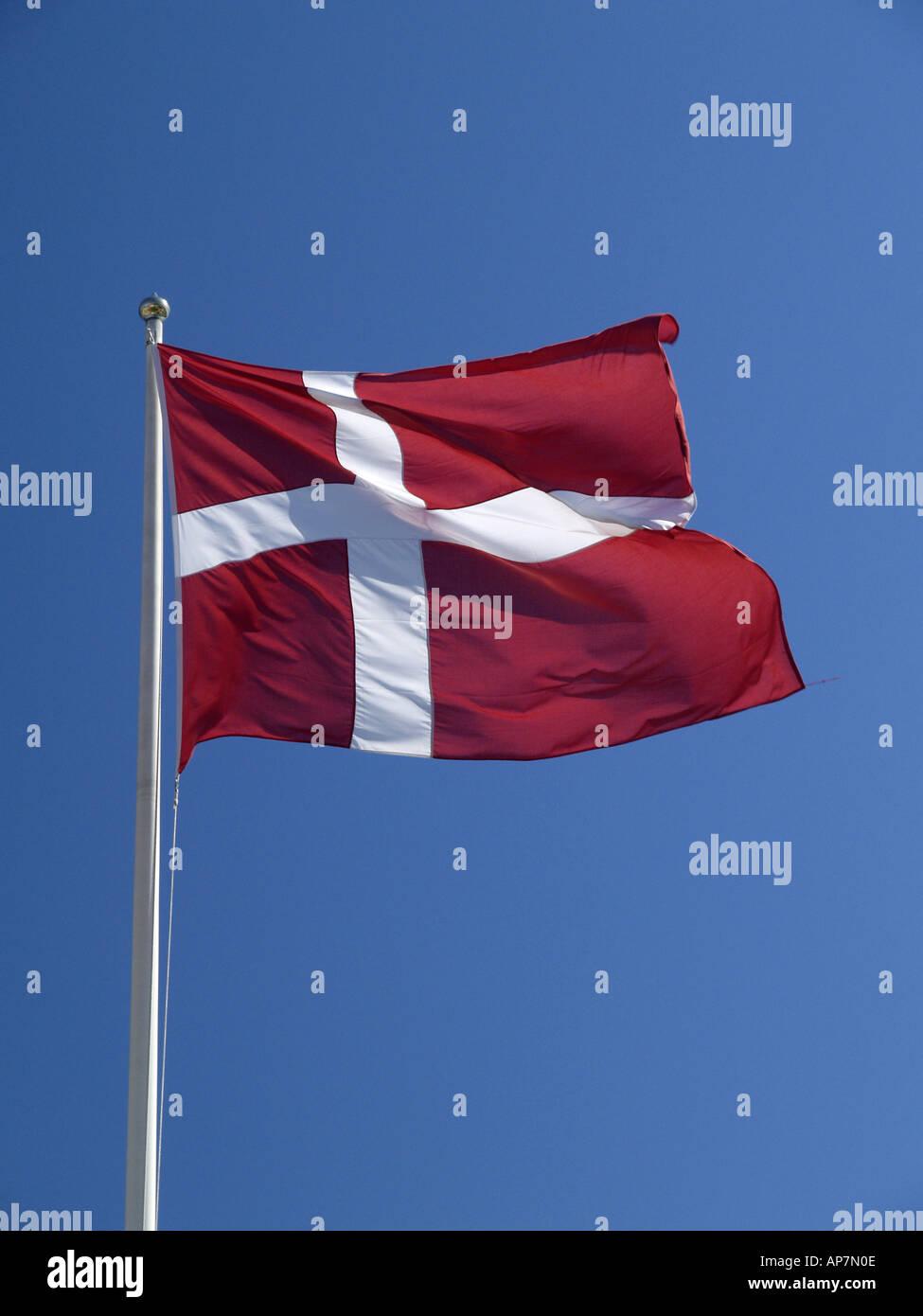 Danish flag, Dannebrog - Stock Image