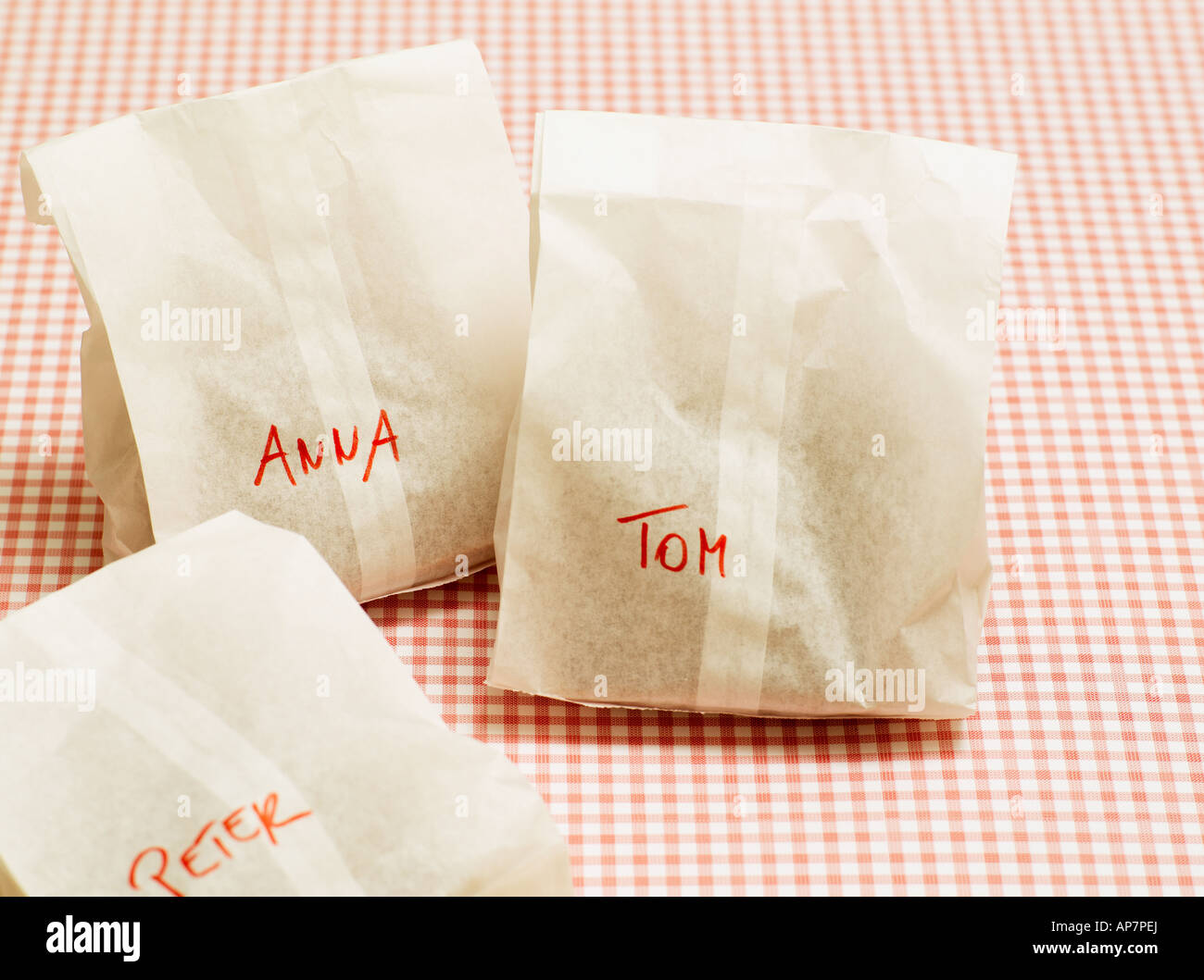 Packed lunches - Stock Image