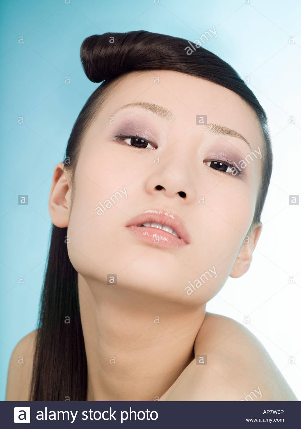 Portrait of a young chinese woman - Stock Image