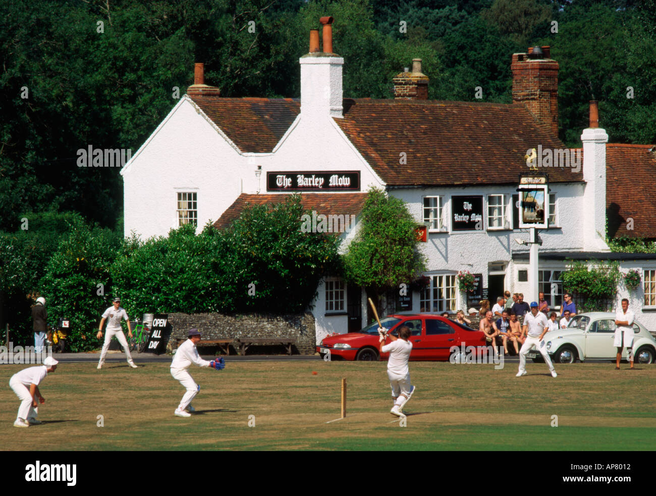 England Tilford village cricket - Stock Image