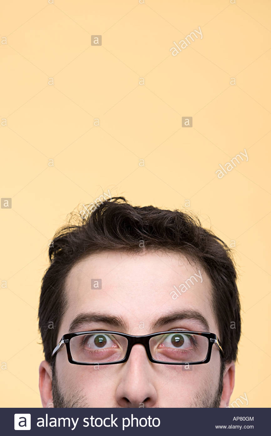 Half of a mans face - Stock Image