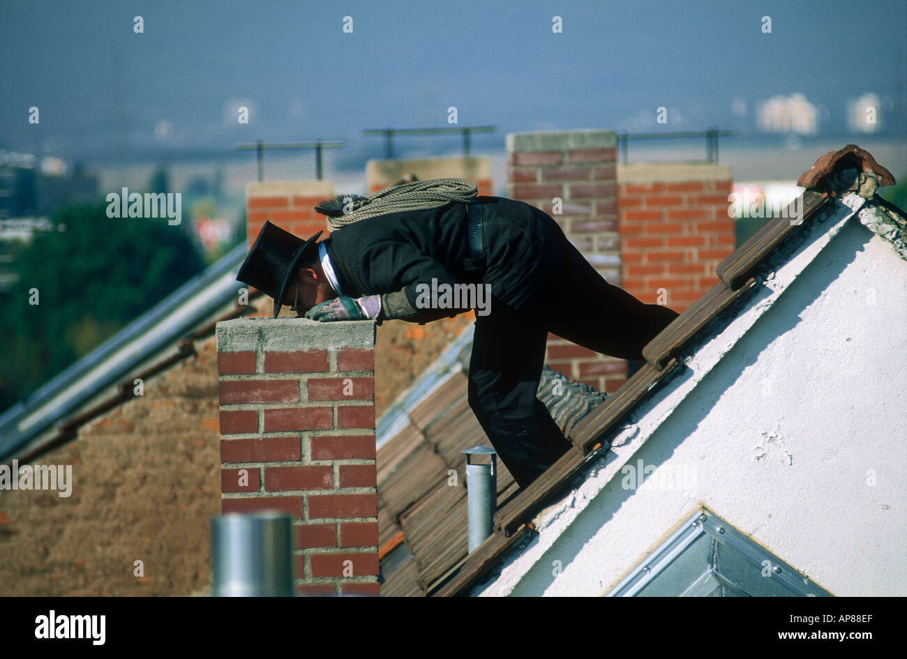 Roof Chimney Tile Roof Ridge Stock Photos Amp Roof Chimney