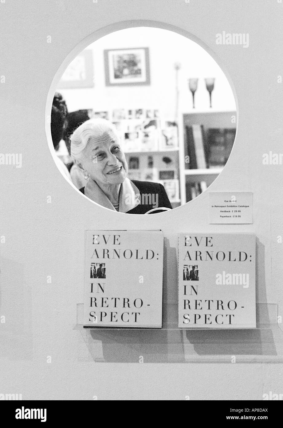 Magnum photographer Eve Arnold at the launch of hr book In Retrospect in Birmingham ENgland UK in 1996 - Stock Image