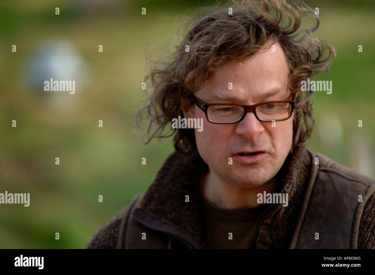 Hugh Fearnley Whittingstall pictured at Park Farm near Axminster Devon - Stock Image