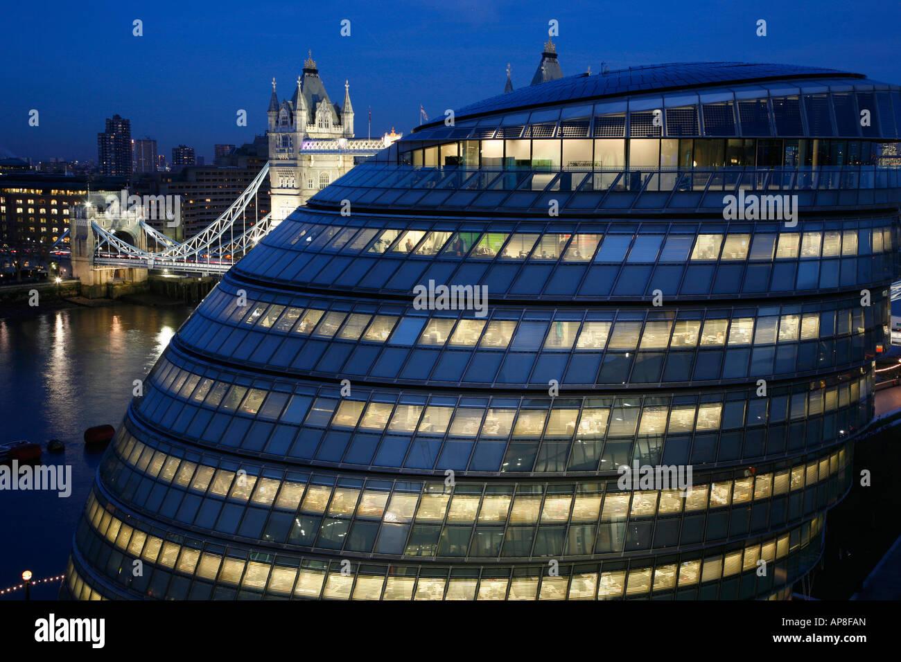 GLA Building and Tower Bridge, London - Stock Image