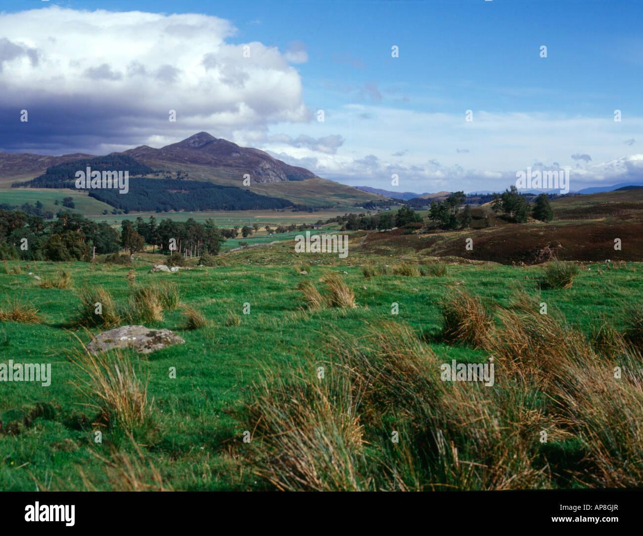 dh Monadhlaith mountains A CHAILLEACH INVERNESSSHIRE Wild Mountain glen wilderness scotland scottish landscape mountain beautiful Stock Photo