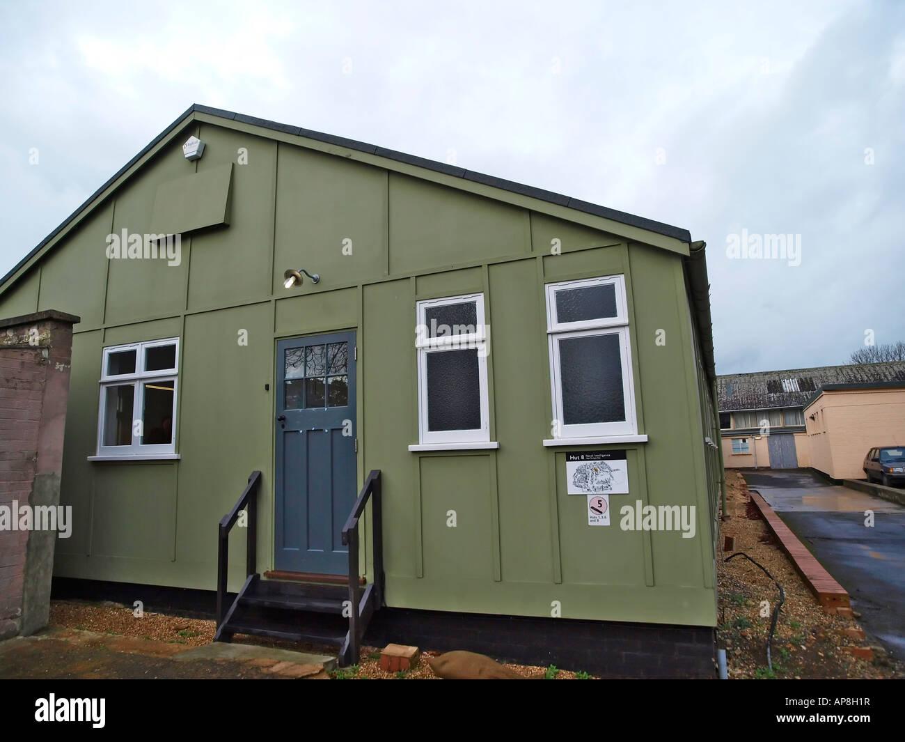 Hut 8 Naval Intelligence, where Alan Turing worked, Bletchley Park, Bletchley, Milton Keynes, MK3 6EB - Stock Image