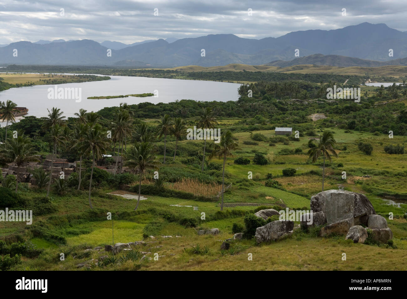 Evatraha village, Lokaro Bay, near Taolagnaro, Fort Dauphin, Madagascar Stock Photo