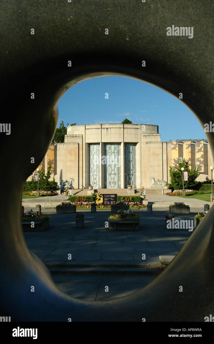 AJD52667, Seattle, WA, Washington, Volunteer Park, Seattle Asian Art Museum, Capitol Hill - Stock Image