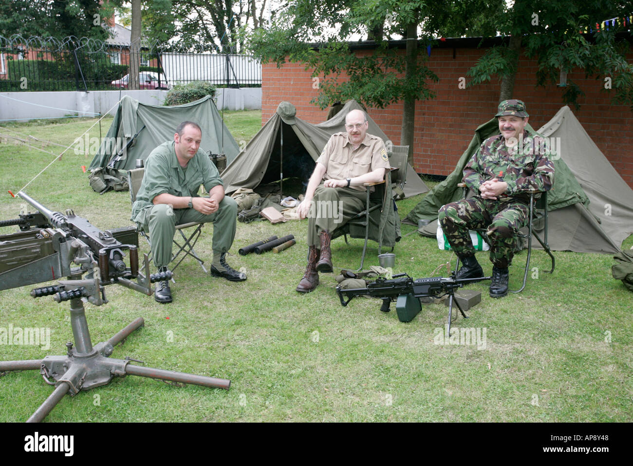 world war 2 WW2 military reinactors at Grey Point Fort Helens Bay County Down Northern Ireland Stock Photo