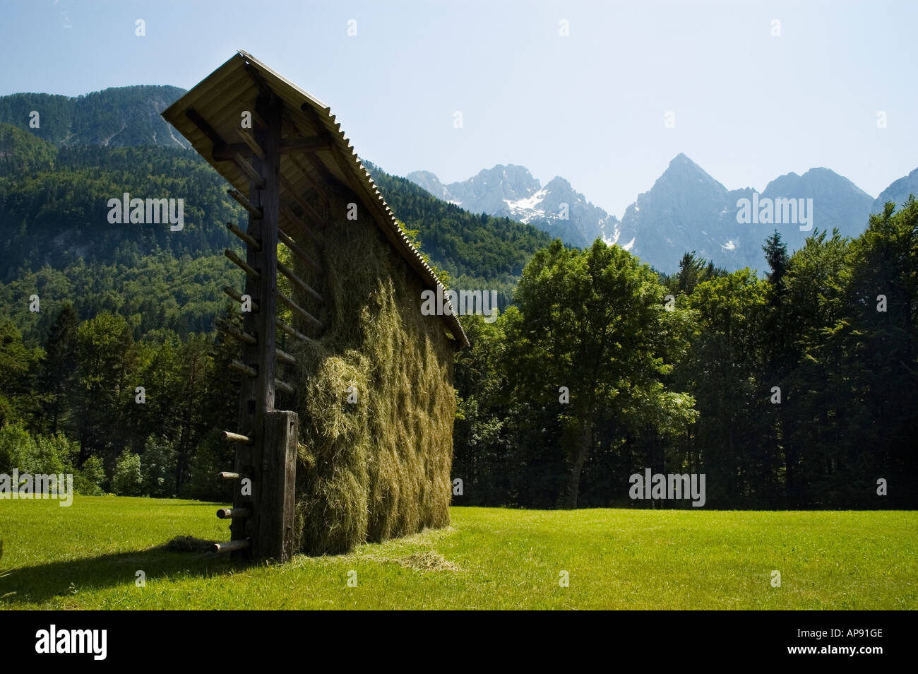 rack slovenia village racks photo bohinj landscape stock in region hay slovenian