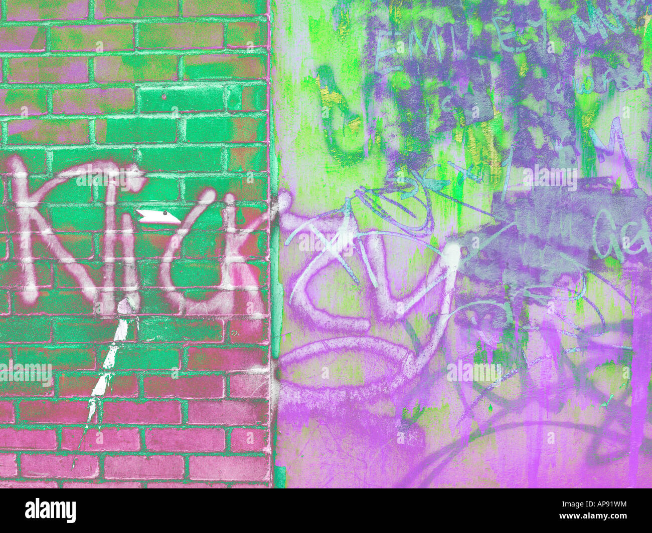 Graffiti on Wall - Stock Image