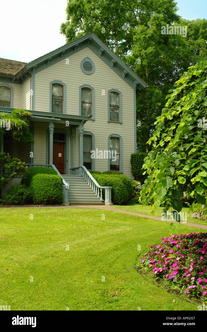 AJD52110, Salem, OR, Oregon, Bush's Pasture Park, Bush House Museum, Italianate 1877 - Stock Image