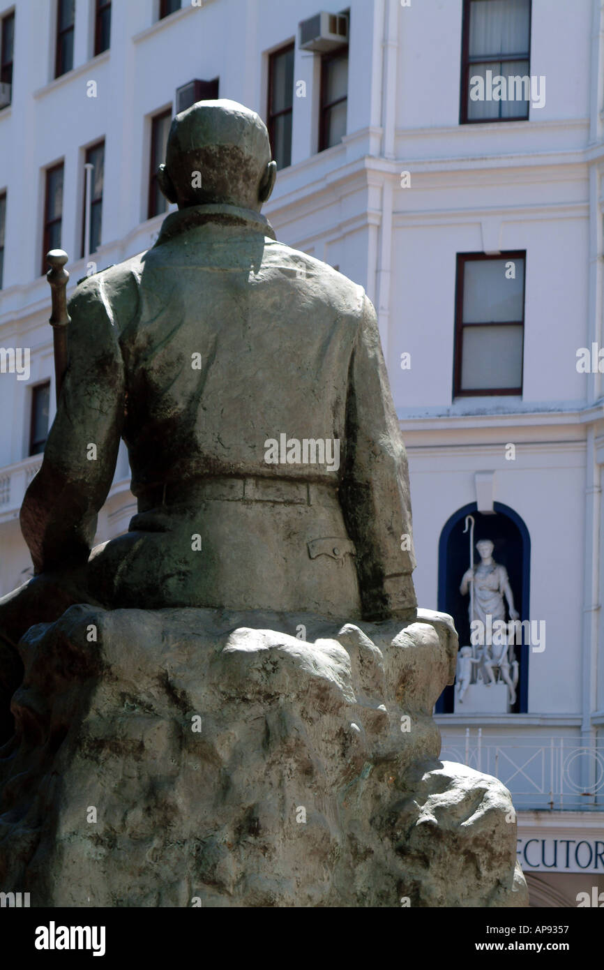 Cape Town South Africa RSA General Smuts statue standing in the City centre - Stock Image