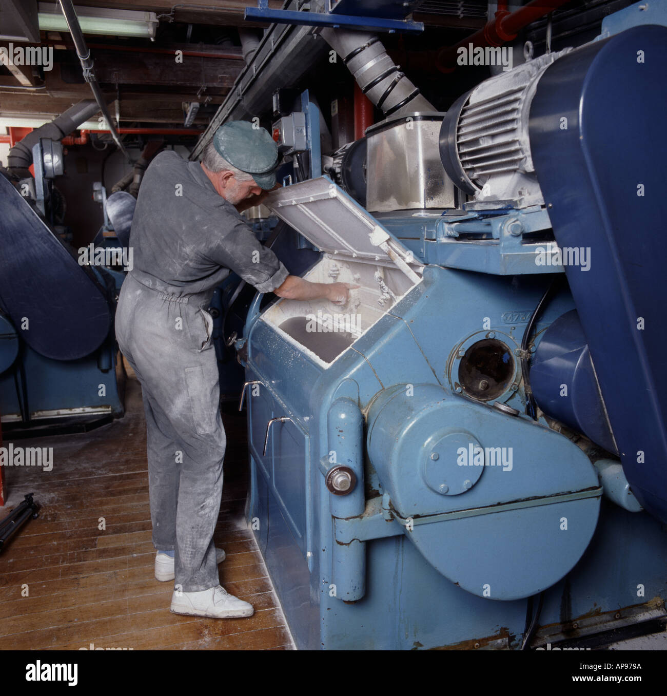 for sale novel design choose authentic Man working at roller milling grain at Clarks Mill Wantage ...