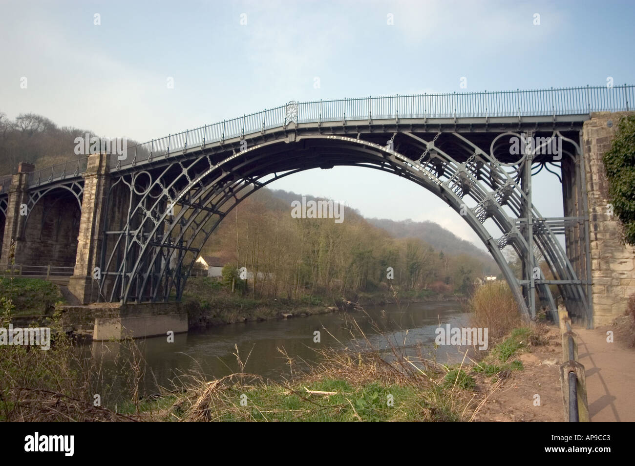 The Famous Ironbridge Spanning River Severn In Shropshire England