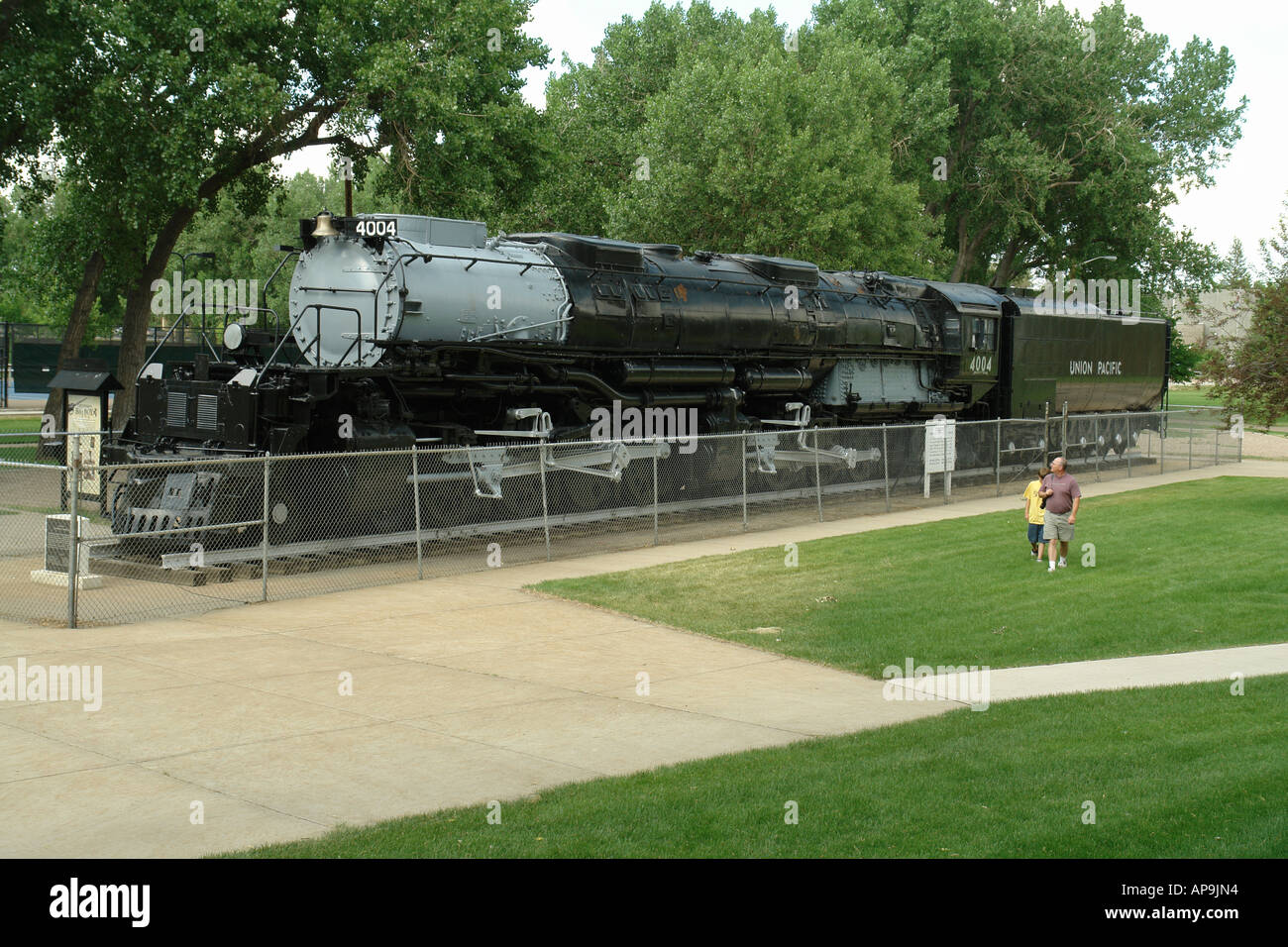 AJD50309, Cheyenne, WY, Wyoming, Holliday Park, Big Boy steam engine, locomotive - Stock Image