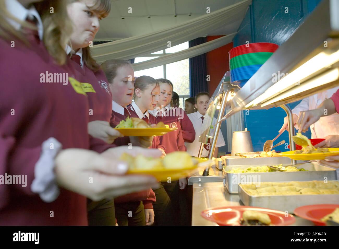 School Dinners Kent UK - Stock Image