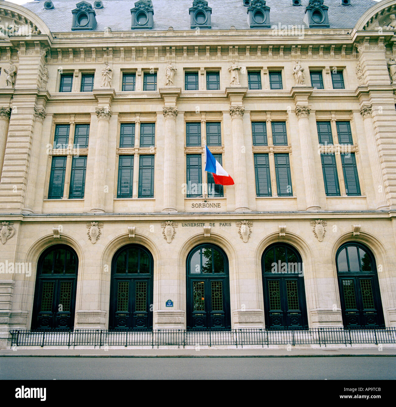 Sorbonne University in the city of Paris In France In Europe - Stock Image