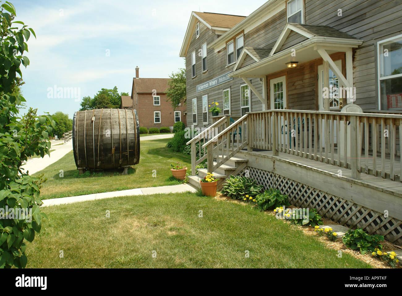 AJD50002, Amana, IA, Iowa, Amana Colonies, National Historic Landmark, Ackerman Winery - Stock Image