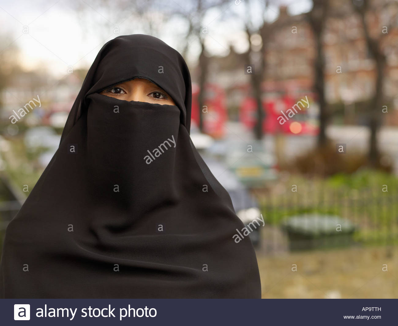 Woman wearing hijab - Stock Image