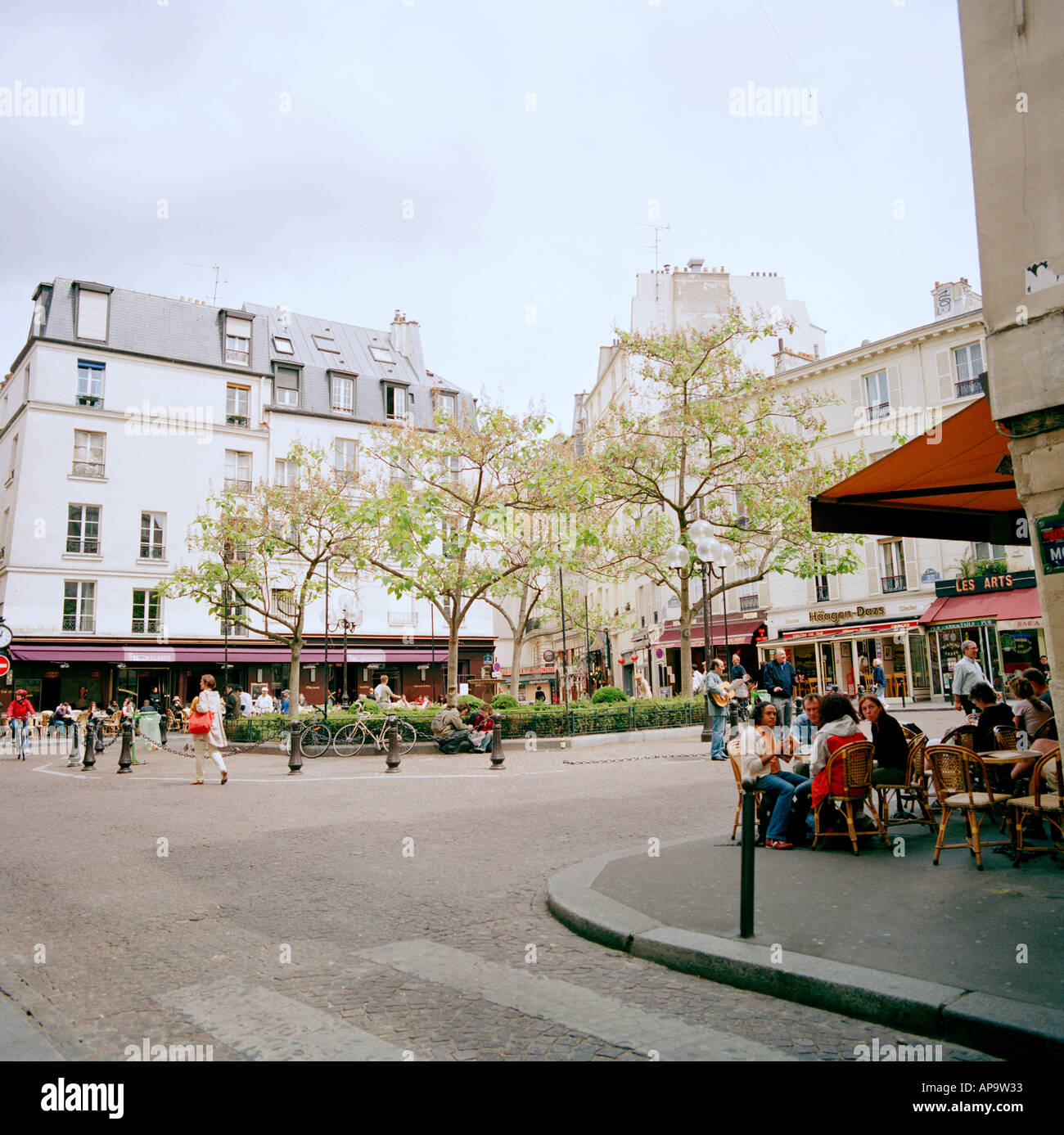 Left Bank Latin Quarter in the city of Paris In France In Europe - Stock Image