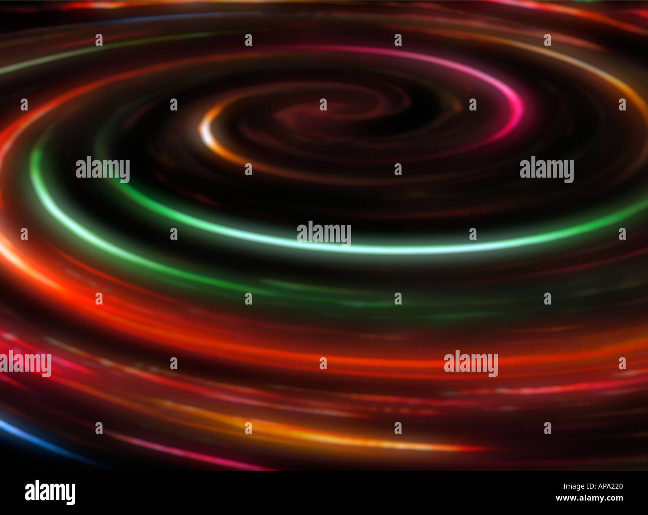 Liquid swirls abstract - Stock Image