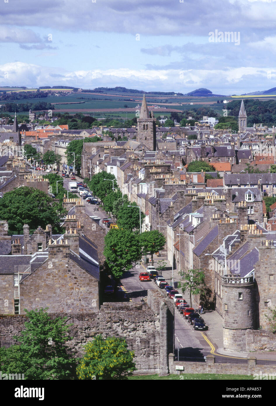 dh South Street fifeshire ST ANDREWS FIFE SCOTLAND The Pends towns view town centre Stock Photo