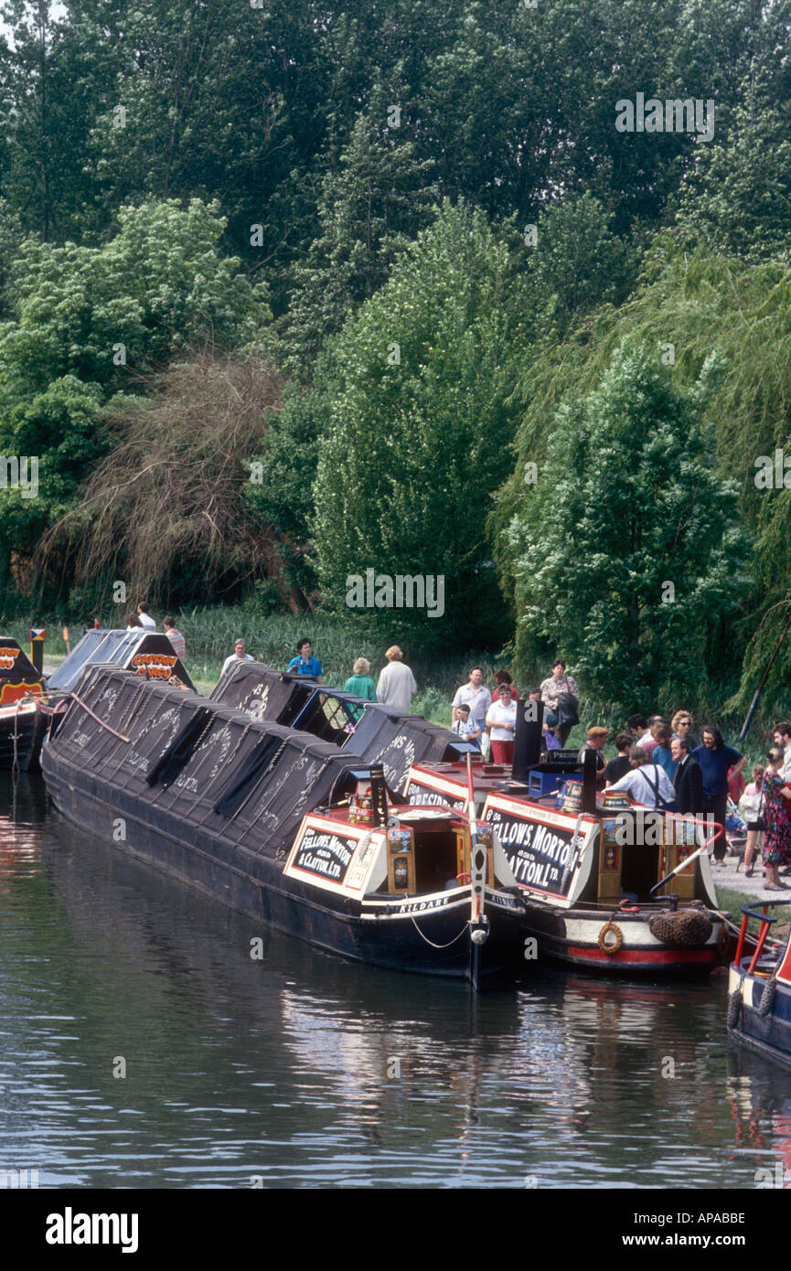 The 1908 FMC steam narrowboat President on the Grand Union Canal at batchworth in Hertfordshire England UK - Stock Image