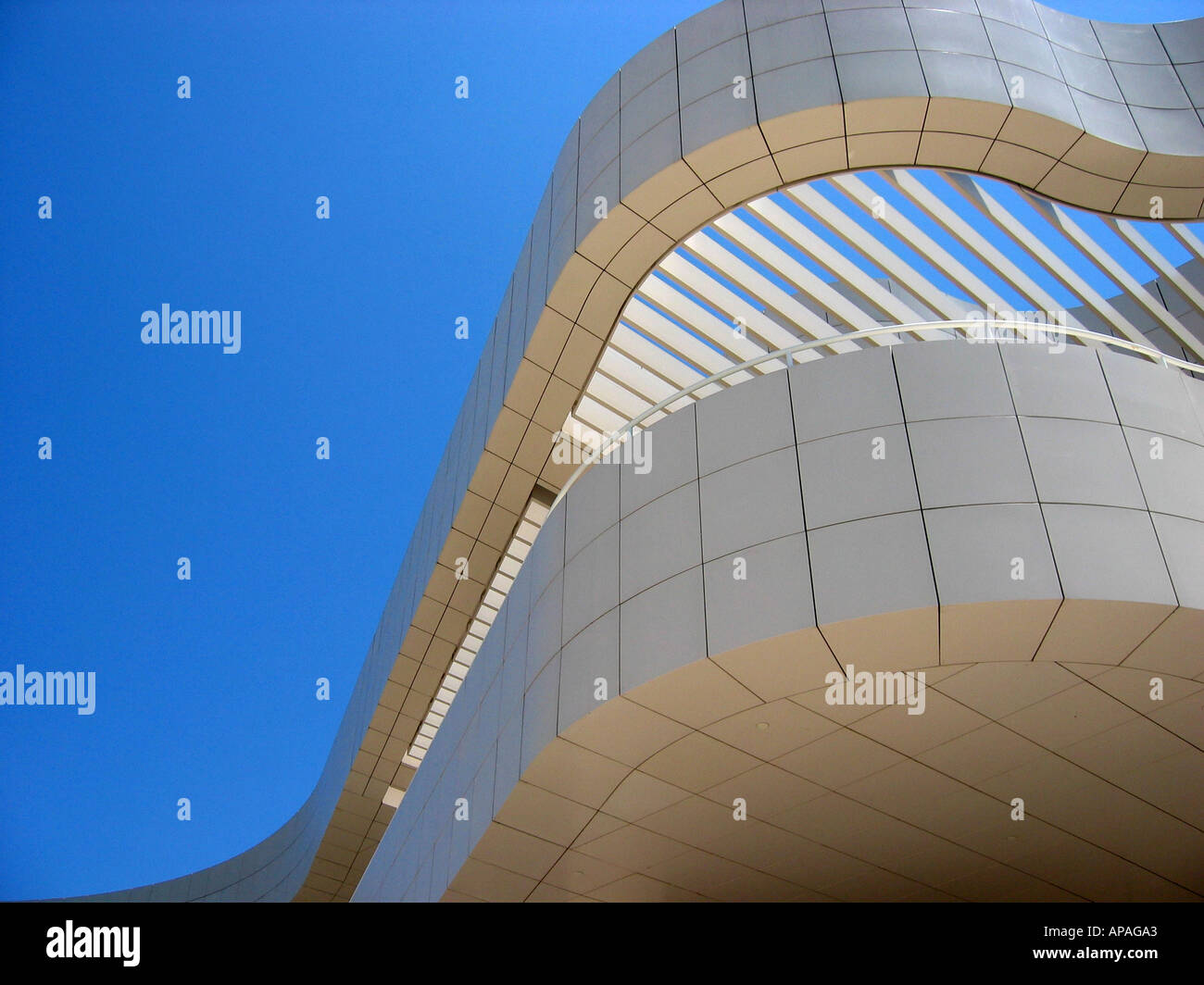 The Getty Center , J Paul Getty Museum, California Los Angeles, USA - Stock Image