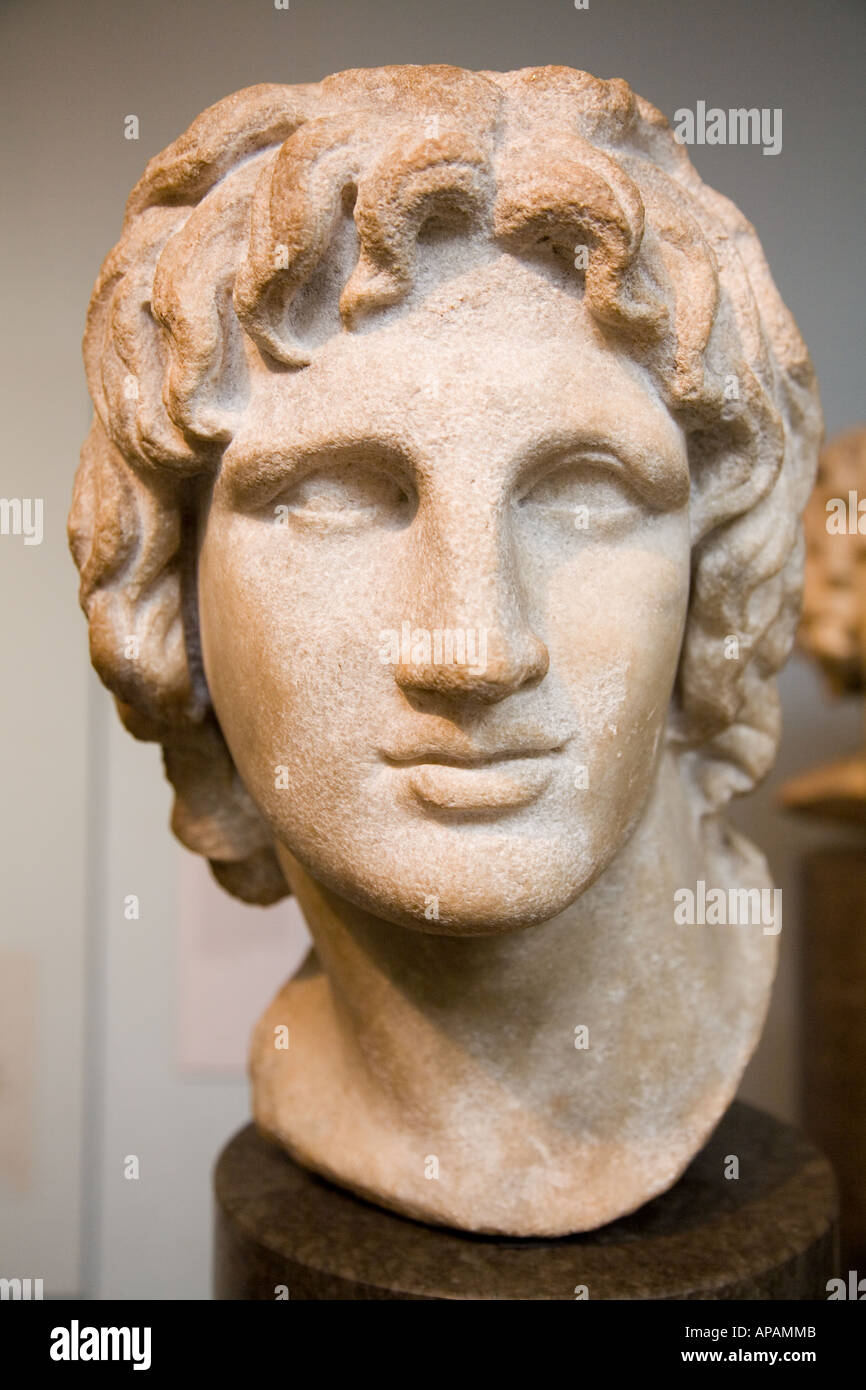 Marble Of Alexander The Great The British Museum UK Europe - Stock Image