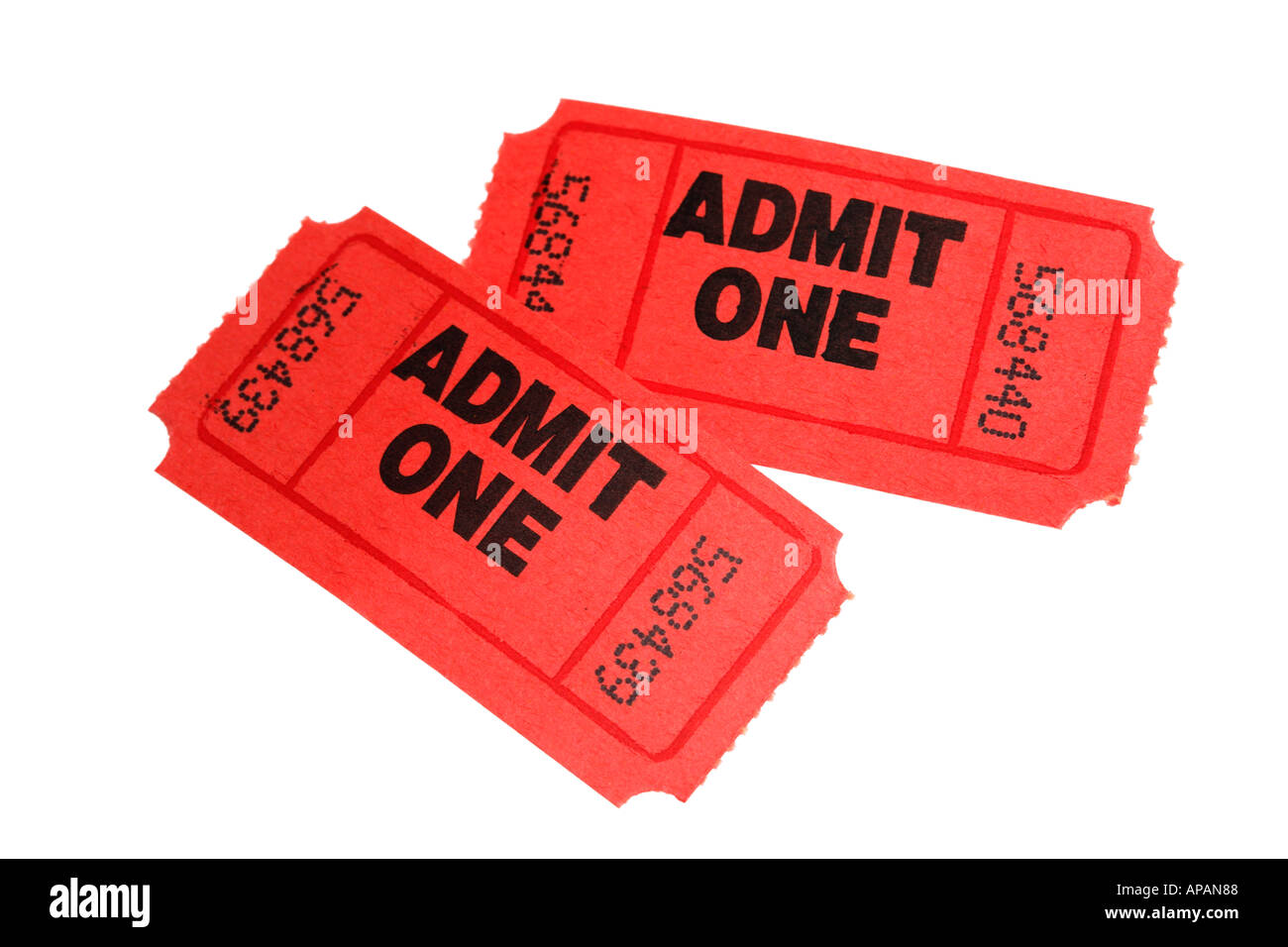 Pair of tickets - Stock Image