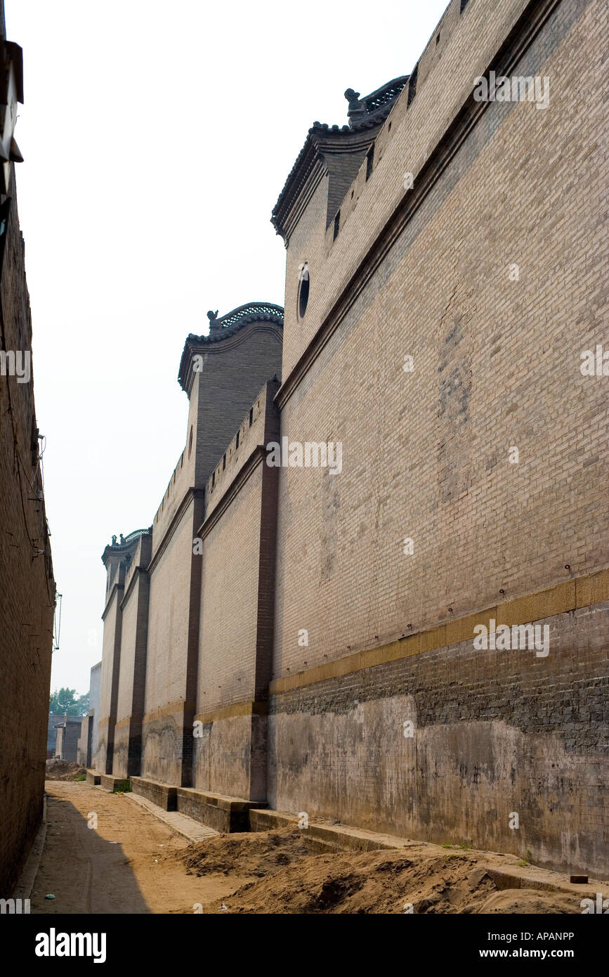 The Yard of Qiao Family-a wealthy family of that period named Qiao Shanxi - Stock Image